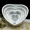 رخيصةأون وسائد-5 بوصة معدنية الحب قلب شكل كعكة العفن انفصال يعيش أسفل المعجنات العفن