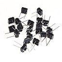 6 * 6 * 5MM Micro Switch Touch Switch Button Switch Horizontal Two Small Feet(20Pcs)