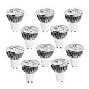 ieftine LED-uri-10pcs 4 W 400-450 lm GU10 Spoturi LED 4 LED-uri de margele LED Putere Mare Intensitate Luminoasă Reglabilă Alb Cald / Alb Rece / Alb 220-240 V / 10 bc / RoHs