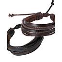 voordelige Fijne Sieraden-Heren Lederen armbanden Touw geweven Goedkoop Dames Ketting Gepersonaliseerde Leder Armband sieraden Zwart / Bruin Voor Dagelijks