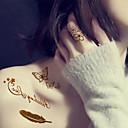 ieftine Tattoo Tips-5 pcs Acțibilde de Tatuaj Tatuaje temporare Serie de Animale / Serie de Flori / Serie de Bijuterii Non Toxic / Hawaiian Arta corpului / Model