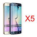 رخيصةأون حافظات / جرابات هواتف جالكسي S-حامي الشاشة إلى Samsung Galaxy S6 edge PET حامي شاشة أمامي (HD) دقة عالية