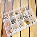 ieftine Benzi Cauciuc Curcubeu-Pătrat Cutii de Bijuterii - Reșină Modă Διαφανές 17 cm 9.5 cm 2 cm / Pentru femei / Bărbați