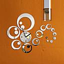 ieftine Brățări-moda detașabil ceas oglindă stil DIY autocolante de perete de arta pentru decor acasă (argint)