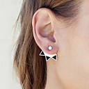 povoljno Naušnice-Žene Sitne naušnice Naušnice sprijeda i straga Magic Back Earring dame Vintage Simple Style Moda Naušnice Jewelry Zlato / Pink Za