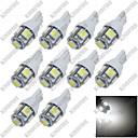 رخيصةأون المكياج-SO.K 10pcs T10 سيارة لمبات الضوء 10w SMD 5050 10 lm 5 ضوء إشارة اللف من أجل عالمي