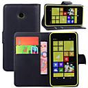 رخيصةأون Nokia أغطية / كفرات-غطاء من أجل Nokia Lumia 925 / Nokia Lumia 630 / نوكيا محفظة / حامل البطاقات / مع حامل غطاء كامل للجسم لون سادة قاسي جلد PU