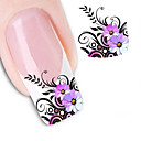 1 pcs 3D Nail Stickers Water Transfer Sticker nail art Manicure Pedicure Flower / Abstract / Fashion Daily