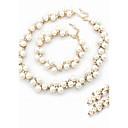povoljno Komplet nakita-Bijela Komplet nakita Rings Set Poslastica dame delikatan Biseri Imitacija dijamanta Naušnice Jewelry Pearl White Za Vjenčanje Party Angažman Dnevno / Ogrlice
