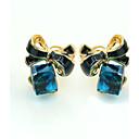 povoljno Zaštitne folije za Huawei-Žene Kristal Sitne naušnice dame Europska Moda 18K pozlaćeni Umjetno drago kamenje Pozlaćeni Naušnice Jewelry Plava Za / Imitacija dijamanta / Austrijski kristal