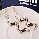 cheap Earrings-Women's Drop Earrings Hanging Earrings Wave Cheap Ladies Fashion Elegant everyday Earrings Jewelry Black / Golden / Silver For Wedding Party Daily Casual
