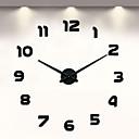 رخيصةأون مصابيح ليد مبتكرة-فرملس diy ساعة الحائط ، 3d ساعة الحائط كبيرة كتم ملصقات الحائط ل غرفة المعيشة ديكورات المنزل (أسود)