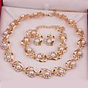 povoljno Komplet nakita-Žene Komplet nakita Moda Biseri Naušnice Jewelry Zlatan Za Vjenčanje Party Special Occasion godišnjica Rođendan Angažman / Dar / Dnevno / Ogrlice