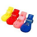 رخيصةأون ملابس وإكسسوارات الكلاب-كلب أحذية و جزم ملابس الكلاب أصفر أحمر أزرق كوستيوم طفل كلب صغير مادة مختلطة مقاومة الماء 5 1 2 3 4