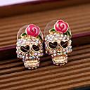 ieftine Cercei-Pentru femei Cercei Stud Craniu Halloween Memento Mori femei Schelet cercei Bijuterii Roz Pentru Zilnic Casual