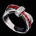 ieftine Momeală Pescuit-Pentru femei Band Ring Zirconiu Cubic diamant mic Rosu Verde Albastru Pietre sintetice Zirconiu femei Bling bling Nuntă Petrecere Bijuterii