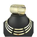رخيصةأون أطقم المجوهرات-مجموعة مجوهرات قلادات ضيقة عبارة سيدات صفد عتيق حفلة أوروبي الأقراط مجوهرات ذهبي من أجل 1SET / القلائد