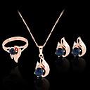 ieftine Inele-Diamant sintetic Seturi de bijuterii Cercei Stud Coliere cu Pandativ femei Petrecere Birou Modă Plin de Culoare Zirconiu Zirconiu Cubic Diamante Artificiale cercei Bijuterii Roz auriu Pentru