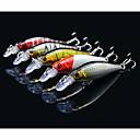 ieftine Momeală Pescuit-5 pcs Δόλωμα Momeală Dură Plevușcă Manivelă Pachete momeală Plutire Bass Păstrăv Ştiucă Pescuit mare Aruncare Momeală Pescuit de Apă Dulce Plastic Dur / Pescuit Biban / Momeală pescuit