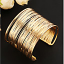ieftine Brățări-Pentru femei Brățări Bantă Wide Bangle Multistratificat Gol femei Design Unic Vintage Petrecere European Aliaj Bijuterii brățară Auriu / Golden 2 / Argint 2 Pentru Petrecere Zilnic