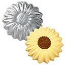رخيصةأون أدوات الفرن-10inch عباد الشمس سبائك الألومنيوم قالب الكعكة 3d الخبز العفن كعكة القصدير عموم