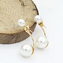 ieftine Colier la Modă-Pentru femei Cristal Cercei Stud Cercei Picătură European Modă 18K Placat cu Aur Perle Imitație de Perle cercei Bijuterii Auriu / Argintiu Pentru / Placat Auriu / Diamante Artificiale / Ștras