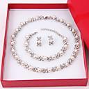 povoljno Naušnice-Žene Komplet nakita Sitne naušnice Pearl smjera dame Elegantno Biseri Imitacija dijamanta Naušnice Jewelry Rose Gold / Obala Za Vjenčanje Party godišnjica Rođendan Čestitamo Hvala vam