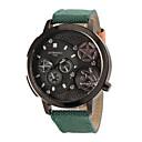 رخيصةأون القلائد-JUBAOLI رجالي ساعة عسكرية مراقبة الطيران كوارتز أسود / الأبيض / أحمر مماثل أحمر أخضر كاكي