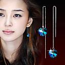ieftine Imbracaminte & Accesorii Căței-Pentru femei Cristal Cercei Picătură Hanging Cercei Argilă cercei Bijuterii Culoare ecran Pentru