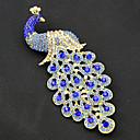 رخيصةأون بروشات-نسائي دبابيس الطاووس عتيق موضة مطلية بالذهب بروش مجوهرات أزرق البحرية من أجل مناسب للحفلات مناسبة خاصة