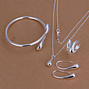 Women's Cubic Zirconia Jewelry Set Silver Plated Drop Ladies, Fashion Include Bracelet Bangles Drop Earrings Necklace Silver Wedding Daily Casual Office & Career