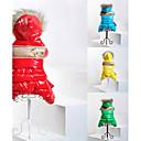 رخيصةأون ملابس وإكسسوارات الكلاب-قط كلب المعاطف هوديس حللا الشتاء ملابس الكلاب أصفر أخضر أحمر كوستيوم قطن ألوان متناوبة الدفء موضة XS S M L XL XXL