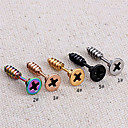 povoljno Muški satovi-Muškarci Sitne naušnice Personalized Titanium Steel Naušnice Jewelry 3 / 4 / 5 Za Party Dnevno