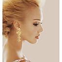 ieftine Acțibilde iPad-Pentru femei Diamant sintetic Cercei Picătură Leaf Shape femei Pietrele Lunilor Argilă Placat Auriu cercei Bijuterii Argintiu / Auriu Pentru Nuntă Petrecere Zilnic Casual Mascaradă Petrecere Logodnă