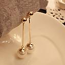 billige Øreringe-Dame Perle Lyserød Dråbeøreringe Billig Damer Perle Imiteret Perle Øreringe Smykker Hvid Til Fest Daglig Afslappet