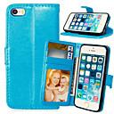 ieftine Ceasuri Personalizate-Maska Pentru iPhone 5 / Apple iPhone SE / 5s / iPhone 5 Portofel / Titluar Card / Cu Stand Carcasă Telefon Mată Greu PU piele
