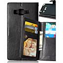 billige iPhone-etuier-Etui Til Samsung Galaxy J5 / J1 / Grand Prime Lommebok / Kortholder / med stativ Heldekkende etui Ensfarget PU Leather