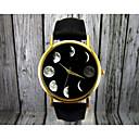 ieftine Ceasuri Damă-Pentru femei Ceas de Mână Quartz Piele Negru / Maro faza Lunii Analog femei Modă Elegant - Negru Maro