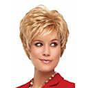 ieftine Peruci & Extensii de Păr-Peruci Sintetice Ondulat Ondulat Perucă Blond Scurt Blond Păr Sintetic Pentru femei Blond