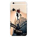 ieftine Carcase iPhone-Maska Pentru Apple iPhone 7 Plus / iPhone 7 / iPhone 6s Plus Model Capac Spate Decor / city View Moale TPU