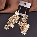 Women's Drop Earrings Hanging Earrings Flower Cheap Statement Ladies Personalized European Elegant Earrings Jewelry Silver / Golden Wedding Party Special Occasion Daily Casual