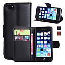 رخيصةأون أغطية أيفون-غطاء من أجل Apple iPhone 7 Plus / iPhone 7 / iPhone 6s Plus محفظة / حامل البطاقات / مع حامل غطاء كامل للجسم لون سادة قاسي جلد PU
