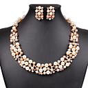 ieftine Seturi de Bijuterii-Pentru femei Perle Seturi de bijuterii European Modă de Mireasă Perle Imitație de Perle Ștras cercei Bijuterii Alb / Curcubeu Pentru Nuntă Petrecere Zi de Naștere Logodnă Cadou Zilnic / Cercei