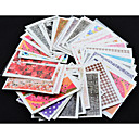 50 pcs 3D Nail Stickers Water Transfer Sticker nail art Manicure Pedicure Flower / Fashion Daily / PVC(PolyVinyl Chloride)