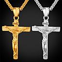 ราคาถูก สร้อยคอ-สำหรับผู้ชาย สร้อยคอจี้ ข้าม สุภาพสตรี แฟชั่น ฮิปฮอป ทองชุบ 18K Titanium Steel Rose Gold ขาว สีทอง ฟ้า Silver Inverted Cross สร้อยคอ เครื่องประดับ สำหรับ ปาร์ตี้ สวมใส่ทุกวัน Street ฮอลิเดย์