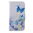 رخيصةأون حافظات / جرابات هواتف جالكسي J-غطاء من أجل Samsung Galaxy J5 / J3 / J2 محفظة / حامل البطاقات / مع حامل غطاء كامل للجسم فراشة جلد PU
