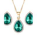 povoljno Igračke za mačku-Žene Sapphire Komplet nakita Kruška Pasijans dame Moda Naušnice Jewelry Crvena / Zelen / Plava Za Vjenčanje Party Dnevno / Ogrlice