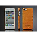 voordelige Galaxy S7 Edge Hoesjes / covers-hoesje Voor iPhone 5 / Apple iPhone SE / 5s / iPhone 5 Kaarthouder Achterkant Effen Hard PU-nahka