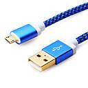 رخيصةأون كابلات ومحولات هواتف-USB مصغر كابل 1m-1.99m / 3ft-6ft البلاستيك محول كابل أوسب من أجل Samsung