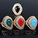 povoljno Maske/futrole za LG-Žene Prsten Izjave Crvena Zelen Plava Pozlaćeni dame Moda Party Jewelry Pasijans